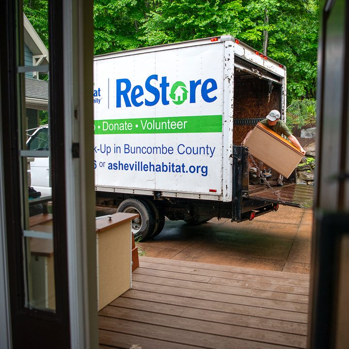 Habitat ReStore truck being loaded