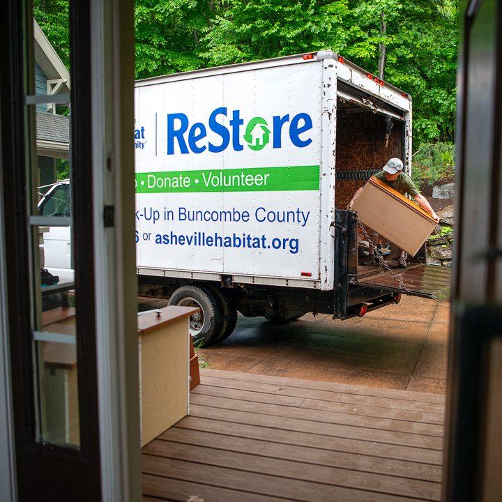 Habitat ReStore truck being loaded