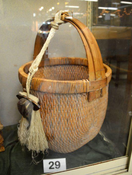 Large Basket With Tassel