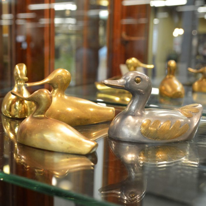 Brass And Pewter Ducks