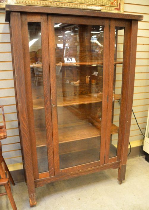 Glass Book Display Cabinet