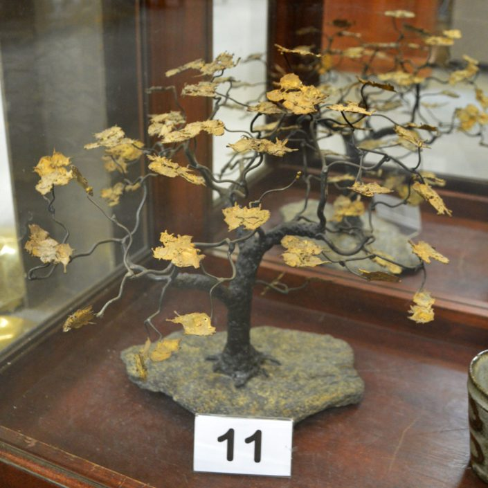 Ornamental Copperleaf On Quartz Base Tree