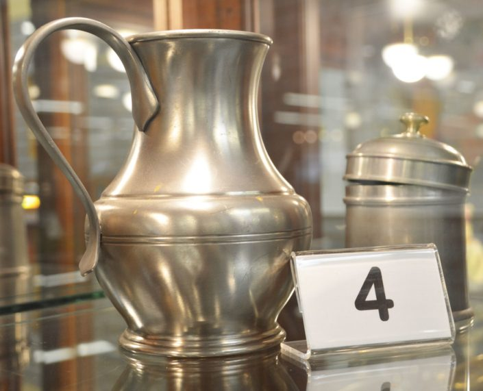 Pewter Pitcher And Canister