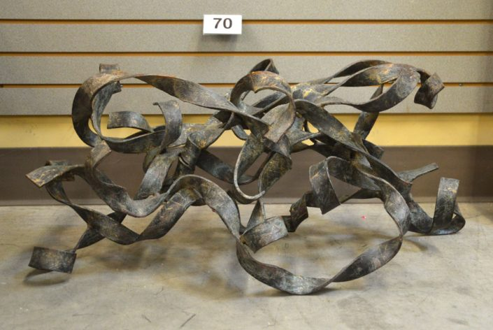 Metal Art (pedestal For Glass Top Table)