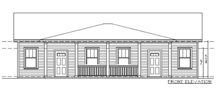 Aip Townhome Front Elevation