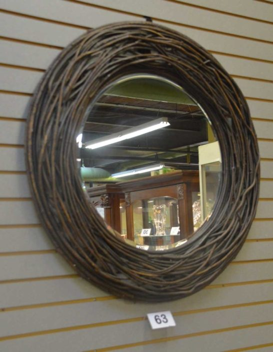 Large Wicker Mirror
