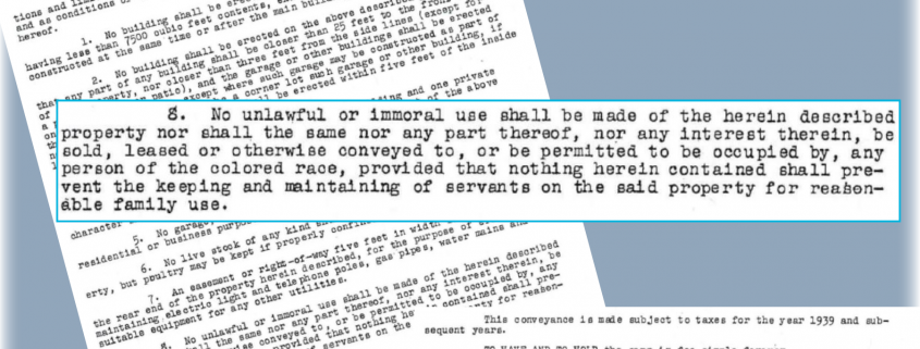 Racially Restrictive Covenant Blog Image