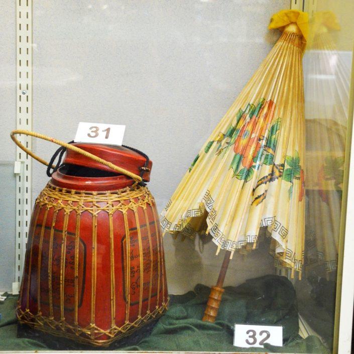 Oriental Basket And Umbrella