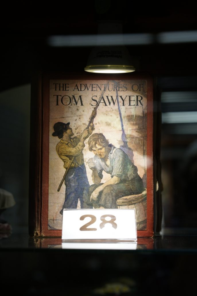 Old antique copy of The Adventures of Tom Sawyer